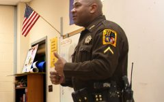 Officer Freeman Speaks with Tuscarora Students