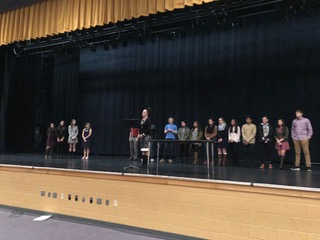 National Math Honor Society Induction Ceremony