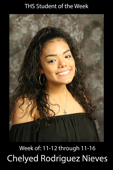 THS Student of the Week 11-12 through 11-16: Chelyed Rodriguez Nieves