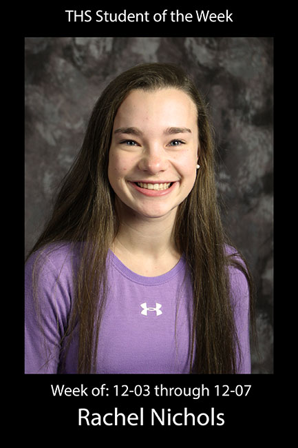 THS Student of the Week: Rachel Nichols