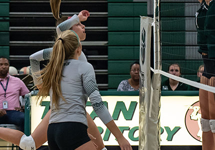 Volleyball raises money for breast cancer with annual Dig Pink event