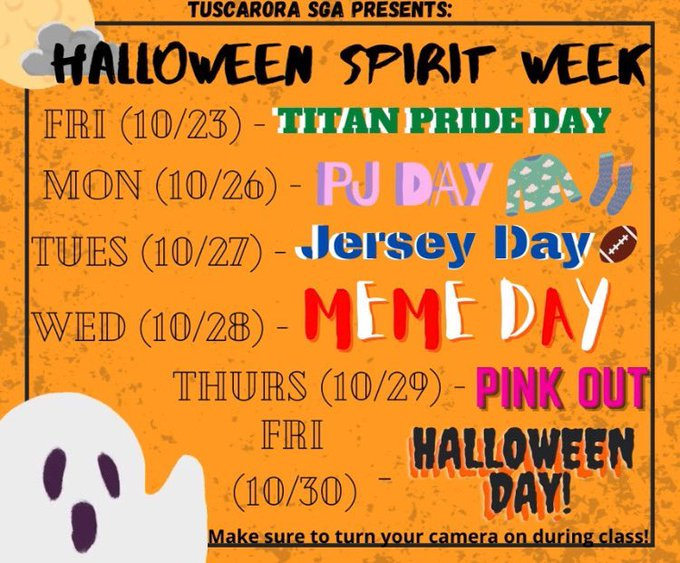 Fall Spirit Week: Let's see some spirit Titans!!!