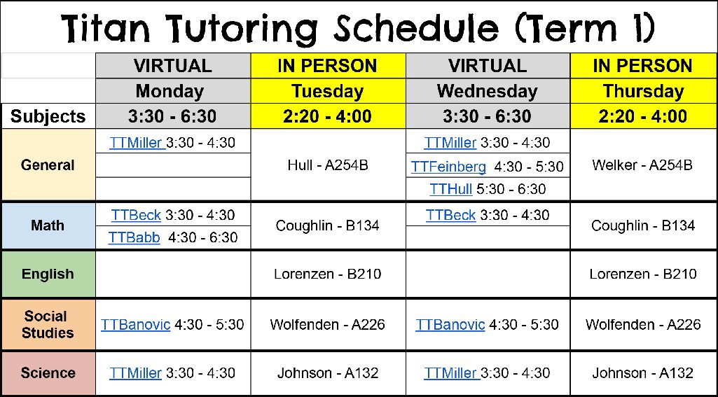 Navigation to Story: Titan Tutoring is back and better than ever!